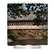 Covered Bridge Over The Contoocook River Shower Curtain