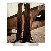Covered Bridge Southern Indiana Shower Curtain