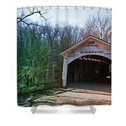 Covered Bridge Turkey Run Shower Curtain