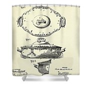 Covered Dish-1895 Shower Curtain