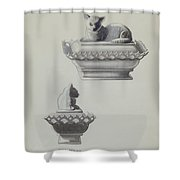 Covered Dish (cat) Shower Curtain