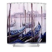Covered Gondolas Shower Curtain