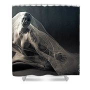 Covered Nude Shower Curtain