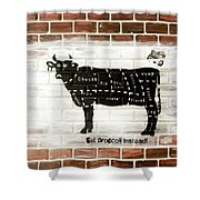 Cow Cuts Shower Curtain