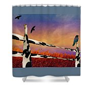 Cow Fence Shower Curtain