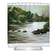Cow Habitant Shower Curtain
