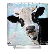 Cow Head Shower Curtain