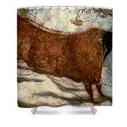 Cow: Lascaux, France Shower Curtain