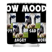 Cow Moods Shower Curtain