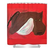 Cow With Udder Shower Curtain