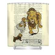 Cowardly Lion, The Wizard Of Oz Scene Shower Curtain