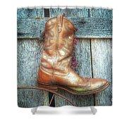 Cowboy Boot Rack Shower Curtain