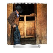 Cowboy By Saloon Doors Shower Curtain