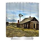 Cowboy Cabin Shower Curtain