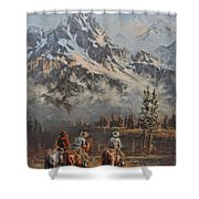 Cowboy Cathedral Shower Curtain