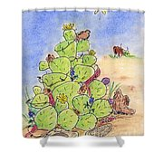 Cowboy Christmas Shower Curtain