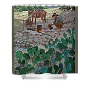 Cowboy Coffeebreak Shower Curtain
