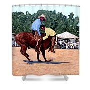 Cowboy Conundrum Shower Curtain