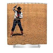 Cowboy Entertainer Shower Curtain