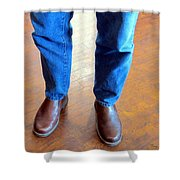 Cowboy Feet Shower Curtain