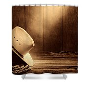 Cowboy Hat In The Old Barn Shower Curtain