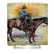 Cowboy N Sunset Shower Curtain