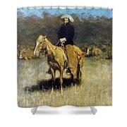 Cowboy Singing Shower Curtain