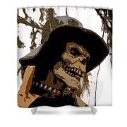 Cowboy Skeleton Shower Curtain