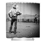 Cowboy Stance Shower Curtain