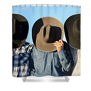 Cowboys Anonymous Shower Curtain