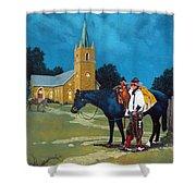 Cowboy's Prayer Shower Curtain