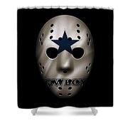 Cowboys War Mask 3 Shower Curtain