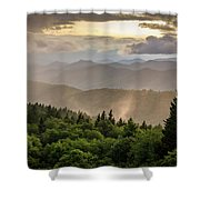 Cowee Mountains Sunset 2 Shower Curtain