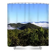 Cowee Overlook At Black Rock Mountain State Park Shower Curtain