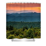 Cowee Sunset. Shower Curtain