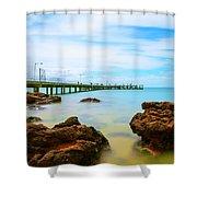 Cowes Pier Shower Curtain