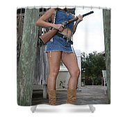 Cowgirl 019 Shower Curtain