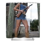 Cowgirl 021 Shower Curtain