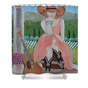 Cowgirl Attitude Shower Curtain