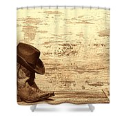 Cowgirl Boots Shower Curtain