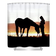 Cowgirl Companion Shower Curtain