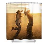 Cowgirl Dance Shower Curtain