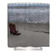 Cowgirl Day At Beach Shower Curtain