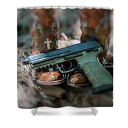 Cowgirl Shabby Chic Shower Curtain