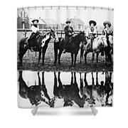 Cowgirls, 1907 Shower Curtain