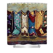 Cowgirls Kickin The Blues Shower Curtain