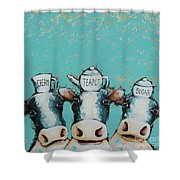 Cows For Tea Shower Curtain