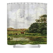 Cows In A Meadow Shower Curtain
