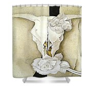 Cow's Skull With Calico Roses By Georgia O'keeffe Shower Curtain