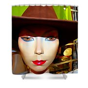 Coy Cowgirl Shower Curtain